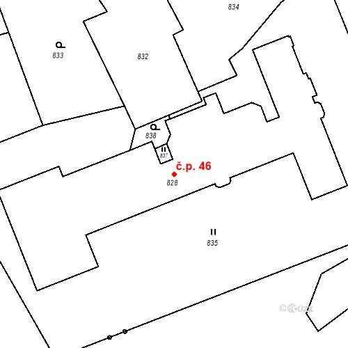 Katastrální mapa Stavební objekt Lichnov 46, Lichnov
