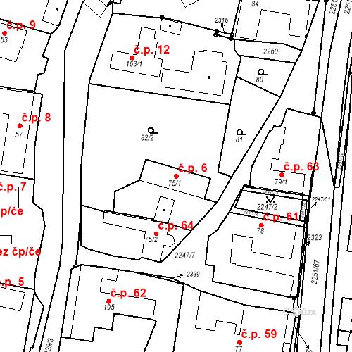 Katastrální mapa Stavební objekt Pozlovice 6, Pozlovice