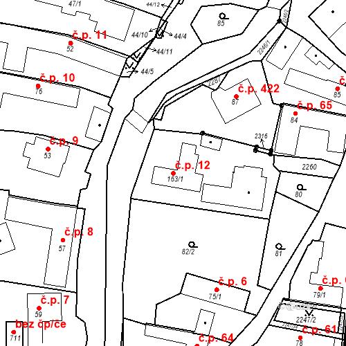 Katastrální mapa Stavební objekt Pozlovice 12, Pozlovice