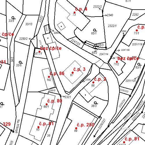 Katastrální mapa Stavební objekt Pozlovice 3, Pozlovice