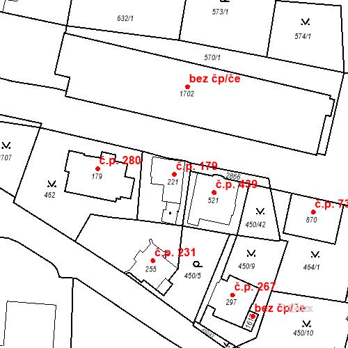 Katastrální mapa Stavební objekt Luhačovice 179, Luhačovice