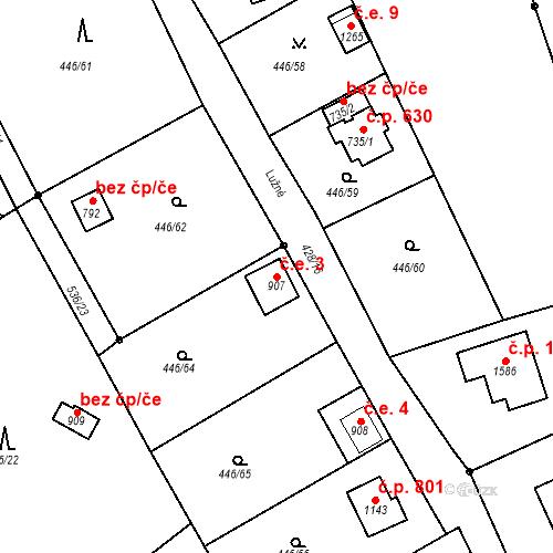 Katastrální mapa Stavební objekt Luhačovice 3, Luhačovice
