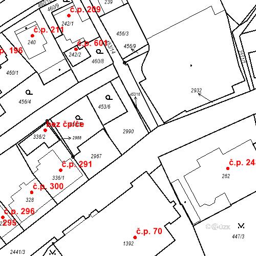 Katastrální mapa Stavební objekt Luhačovice 285, Luhačovice