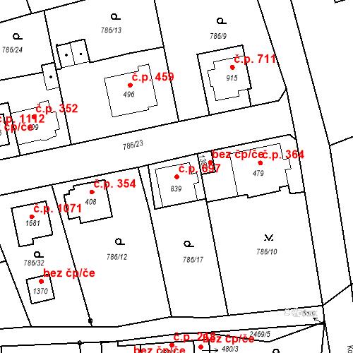 Katastrální mapa Stavební objekt Luhačovice 697, Luhačovice