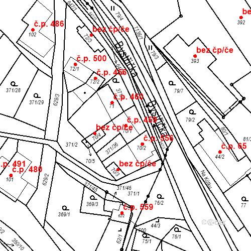 Katastrální mapa Stavební objekt Chvalčov 459, Chvalčov