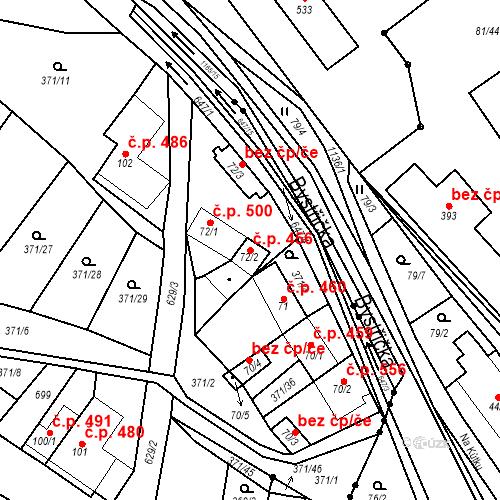 Katastrální mapa Stavební objekt Chvalčov 456, Chvalčov