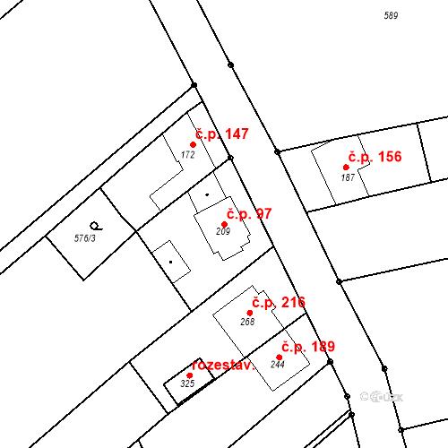 Katastrální mapa Stavební objekt Nezdenice 97, Nezdenice