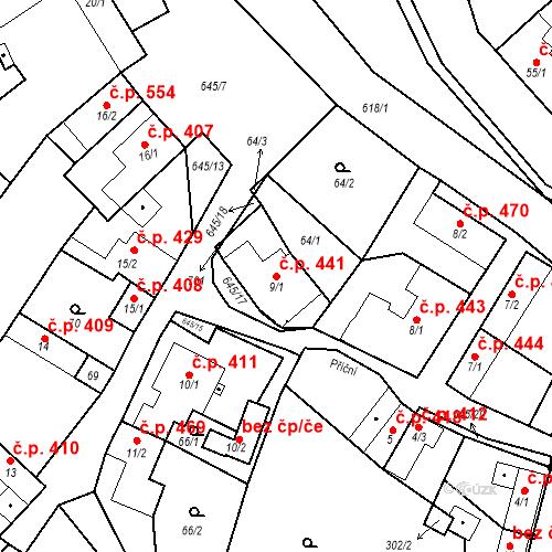 Katastrální mapa Stavební objekt Chvalčov 441, Chvalčov