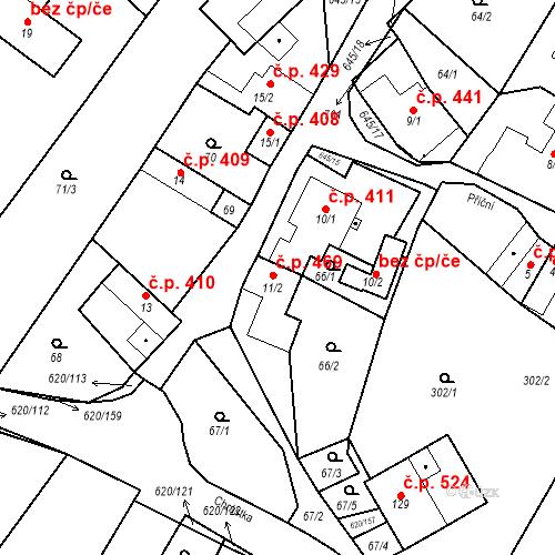 Katastrální mapa Stavební objekt Chvalčov 469, Chvalčov