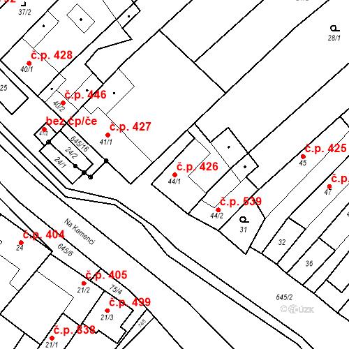 Katastrální mapa Stavební objekt Chvalčov 426, Chvalčov