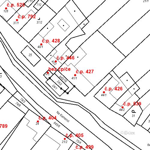 Katastrální mapa Stavební objekt Chvalčov 427, Chvalčov