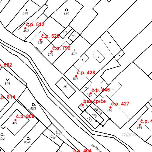 Katastrální mapa Stavební objekt Chvalčov 428, Chvalčov