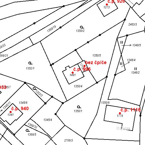 Katastrální mapa Stavební objekt Luhačovice 996, Luhačovice