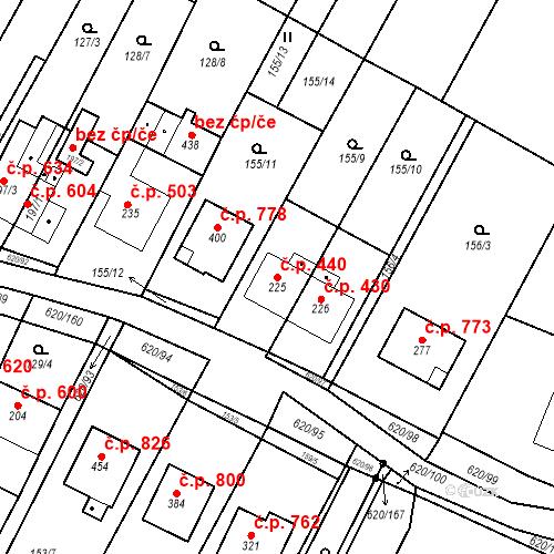 Katastrální mapa Stavební objekt Chvalčov 440, Chvalčov
