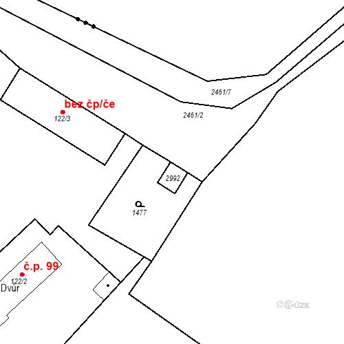 Katastrální mapa Stavební objekt Luhačovice 215, Luhačovice