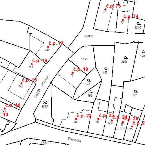 Katastrální mapa Stavební objekt Budišov nad Budišovkou 19, Budišov nad Budišovkou