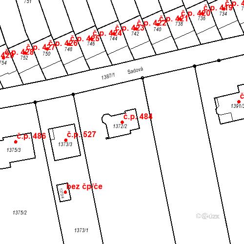 Katastrální mapa Stavební objekt Dřevohostice 484, Dřevohostice