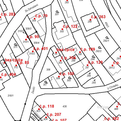 Katastrální mapa Stavební objekt Havřice 104, Uherský Brod