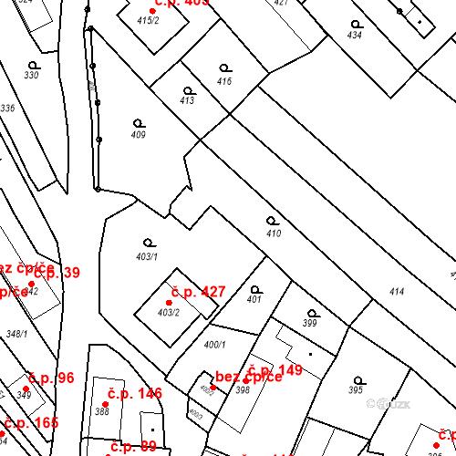 Katastrální mapa Stavební objekt Havřice 110, Uherský Brod