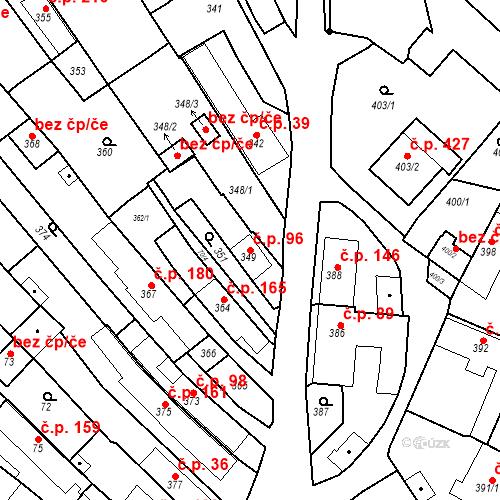 Katastrální mapa Stavební objekt Havřice 96, Uherský Brod