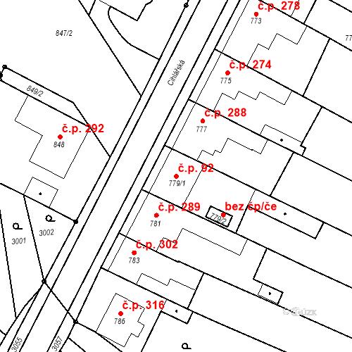 Katastrální mapa Stavební objekt Havřice 92, Uherský Brod