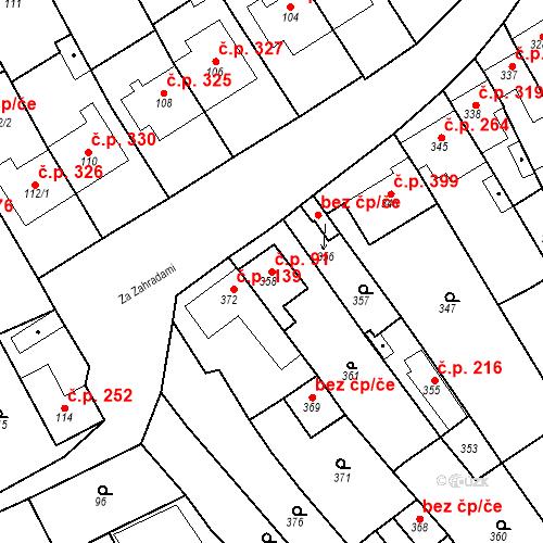 Katastrální mapa Stavební objekt Havřice 91, Uherský Brod