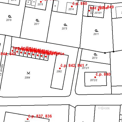 Katastrální mapa Stavební objekt Bruntál 841, 842, Bruntál
