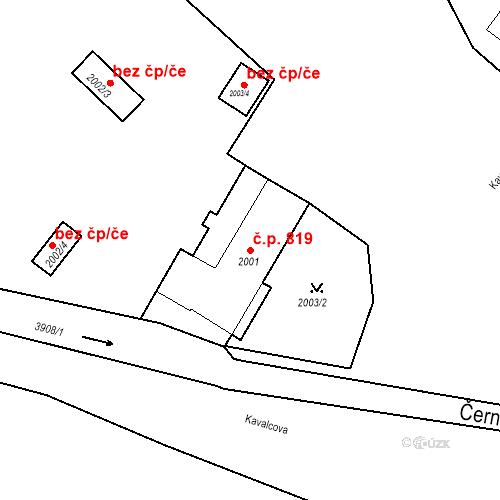 Katastrální mapa Stavební objekt Bruntál 819, Bruntál