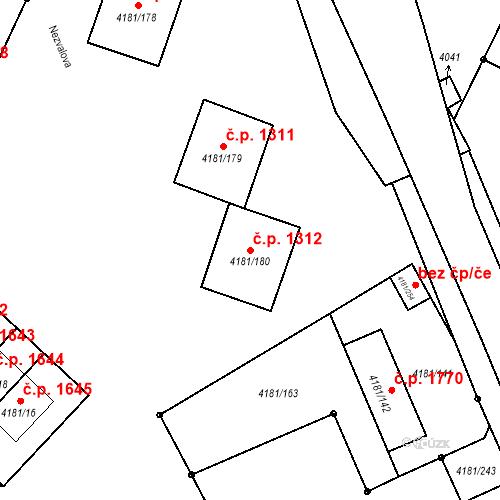 Katastrální mapa Stavební objekt Bruntál 1312, Bruntál