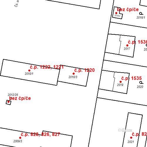 Katastrální mapa Stavební objekt Bruntál 1220, Bruntál
