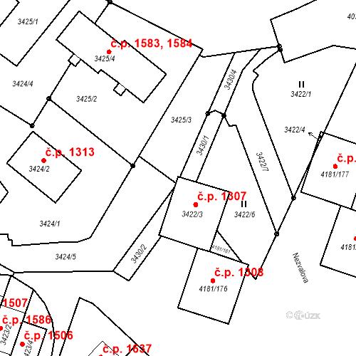 Katastrální mapa Stavební objekt Bruntál 1307, Bruntál