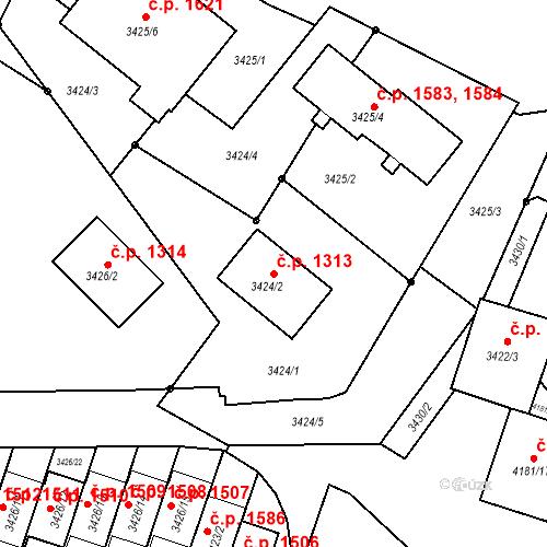 Katastrální mapa Stavební objekt Bruntál 1313, Bruntál