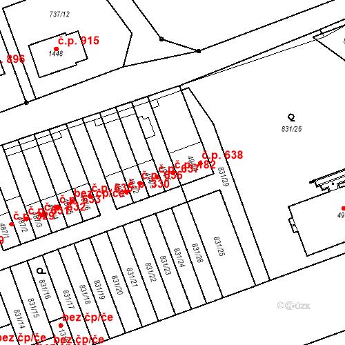 Katastrální mapa Stavební objekt Tlumačov 182, Tlumačov