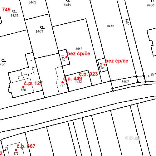 Katastrální mapa Stavební objekt Tlumačov 438