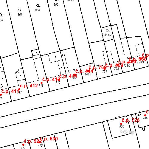 Katastrální mapa Stavební objekt Tlumačov 444, Tlumačov