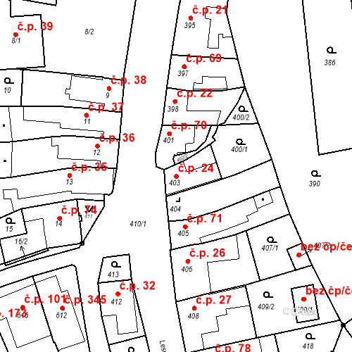 Katastrální mapa Stavební objekt Míkovice 24, Uherské Hradiště