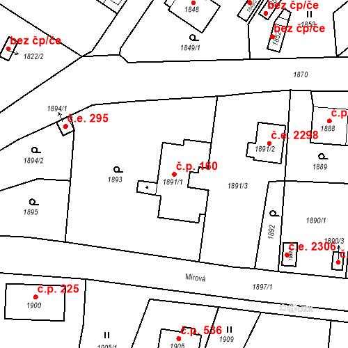 Katastrální mapa Stavební objekt Hlubočky 160, Hlubočky