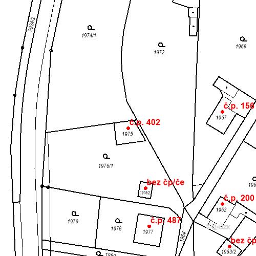 Katastrální mapa Stavební objekt Hlubočky 402, Hlubočky
