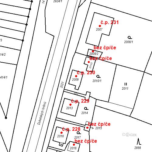 Katastrální mapa Stavební objekt Hlubočky 230, Hlubočky