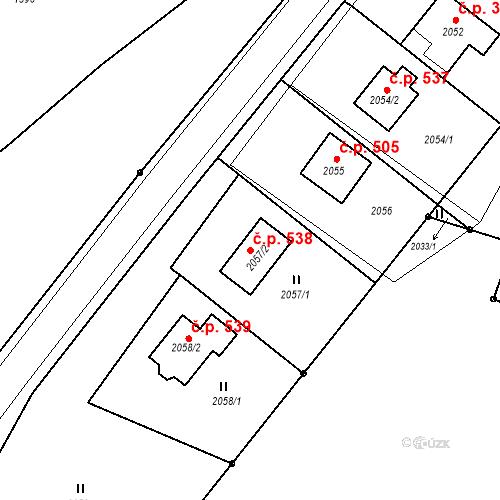 Katastrální mapa Stavební objekt Hlubočky 538, Hlubočky