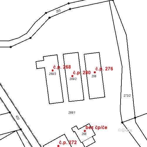 Katastrální mapa Stavební objekt Přerov VII-Čekyně 259, Přerov