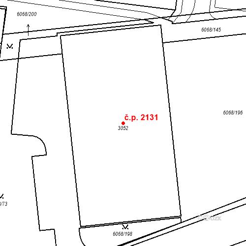 Katastrální mapa Stavební objekt Staré Město 2131, Staré Město