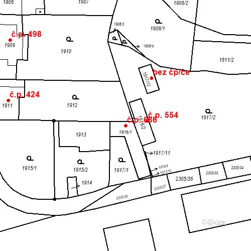 Katastrální mapa Stavební objekt Velká Bystřice 686, Velká Bystřice