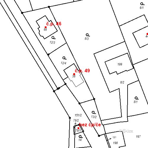 Katastrální mapa Stavební objekt Čelechovice 49, Čelechovice