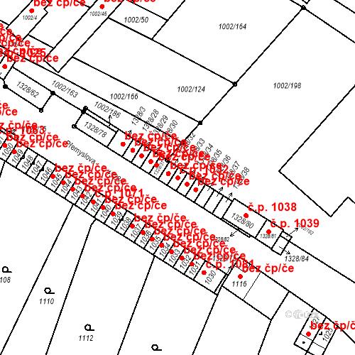 Katastrální mapa Stavební objekt Brodek u Přerova 1032, Brodek u Přerova