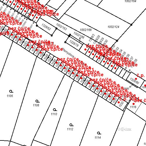 Katastrální mapa Stavební objekt Brodek u Přerova 1071, Brodek u Přerova