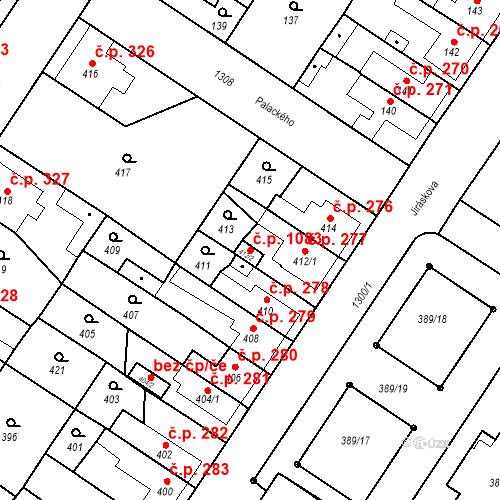 Katastrální mapa Stavební objekt Brodek u Přerova 1083, Brodek u Přerova