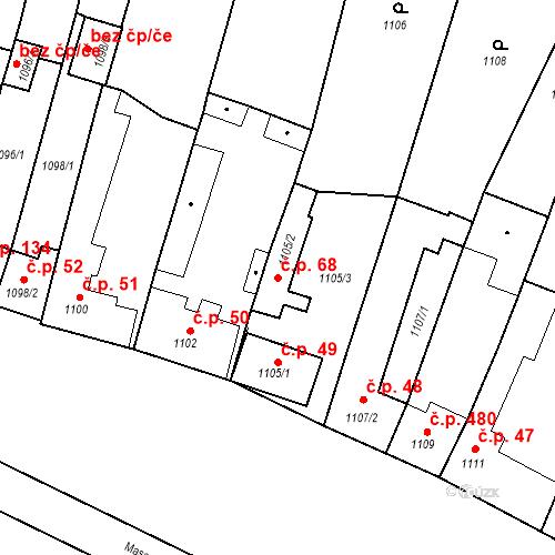 Katastrální mapa Stavební objekt Brodek u Přerova 68, Brodek u Přerova