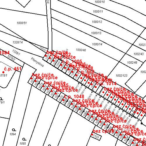 Katastrální mapa Stavební objekt Brodek u Přerova 1008, Brodek u Přerova