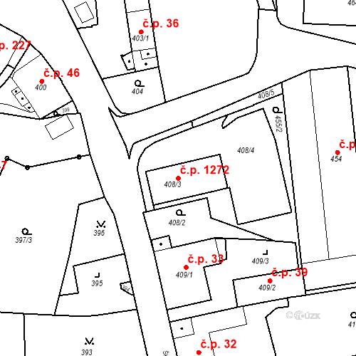 Katastrální mapa Stavební objekt Jeseník 1272, Jeseník